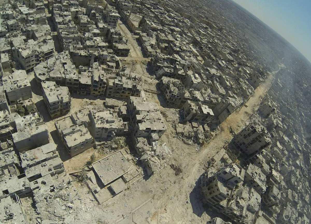 Шокирующие кадры: город-призрак Хомс, взгляд сбеспилотника (ВИДЕО) | Русская весна