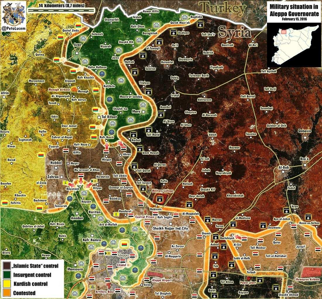 ВАЖНО: сирийские ополченцы и курдские бойцы взяли крепость террористов — Тель-Рифаат у турецкой границы (КАРТА) | Русская весна