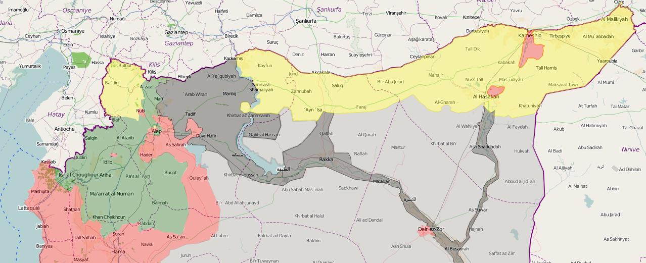 Как курды YPG намерены занять северную Сирию (КАРТА) | Русская весна