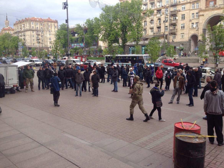 Протестующие покинули здание киевской мэрии (ФОТО) | Русская весна
