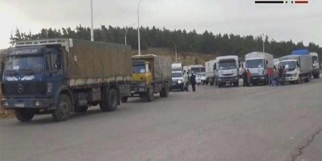 Гуманитарный конвой прибыл воккупированные и окруженные боевиками города Сирии: Муаддамия, Мадая, Забадани, Кафрея иАль-Фуа (ВИДЕО) | Русская весна