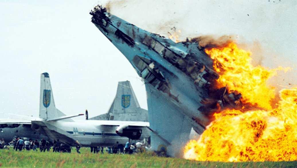 Появились кадры с места падения Су-27 под Житомиром (ФОТО) | Русская весна