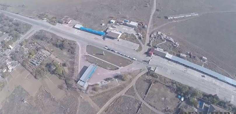 «Правый сектор» показал блокаду Крыма свысоты птичьего полета (ВИДЕО)   Русская весна