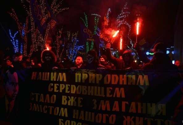 ВОдессе намарше вчесть Бандеры произошла стычка (ФОТО, ВИДЕО) | Русская весна