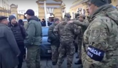Боевики «АТО» вышли на митинг в центре Киева, требуя наказать ответственных за Иловайский «котел» (ВИДЕО) | Русская весна