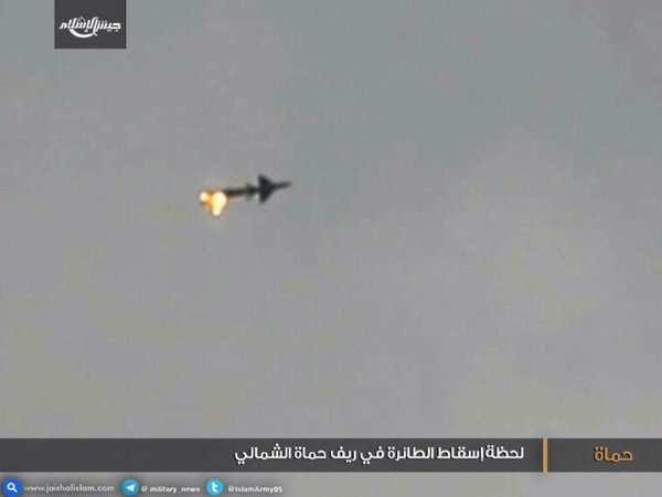 МОЛНИЯ: обнародовано видео сбития МИГ-21 ВВС Сирии в Хаме (+ВИДЕО) | Русская весна