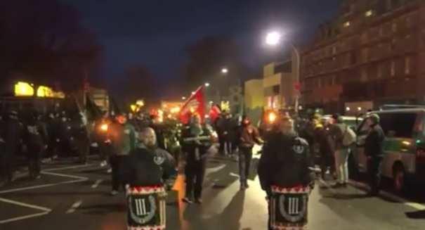 В Германии прошло факельное шествие неонацистов (ВИДЕО) | Русская весна