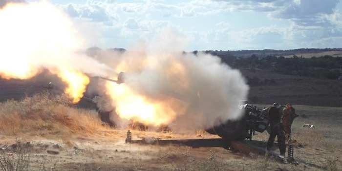 ВСУ обстреливали позиции Народной милиции ЛНР из минометов и орудий БМП | Русская весна