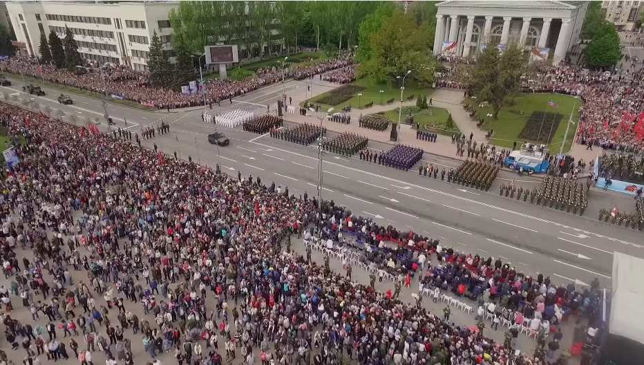 День Победы в Донецке с высоты птичьего полета (ВИДЕО)   Русская весна