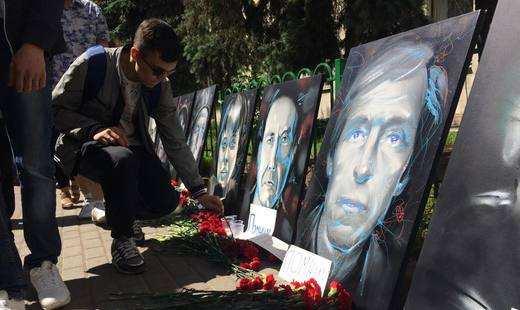 Активисты «Антимайдана» напомнили Киеву об убитых на Донбассе журналистах (ФОТО, ВИДЕО) | Русская весна
