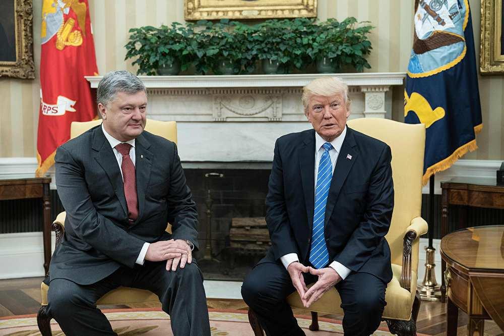 Порошенко обсудил сТрампом поставки угля изПенсильвании наУкраину    Русская весна