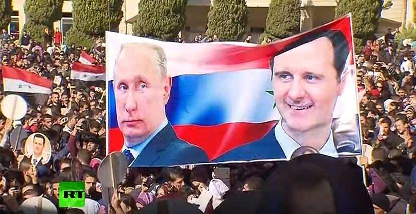 ВСирии прошёл митинг вподдержку операции ВКСРФ(ВИДЕО) | Русская весна