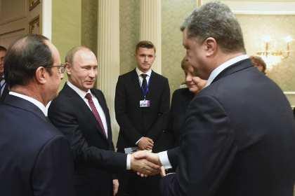 Украинскому телеканалу запретили показывать рукопожатие Путина и Порошенко | Русская весна