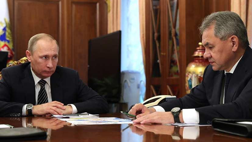 Шойгу докладывает Путину о ситуации в Сирии после атаки коалиции США | Русская весна