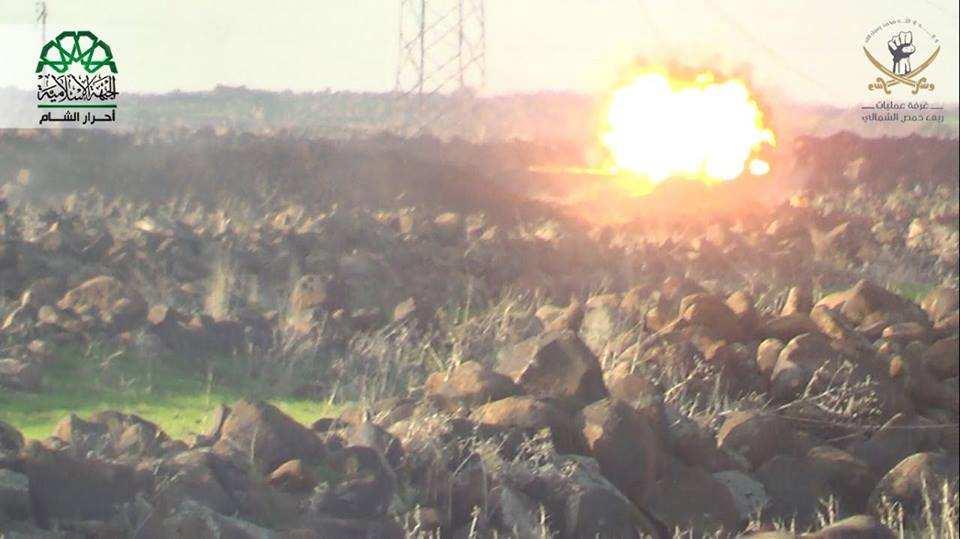 Сирия: ракета террористов против танка Т-72— снова неудача (ВИДЕО) | Русская весна