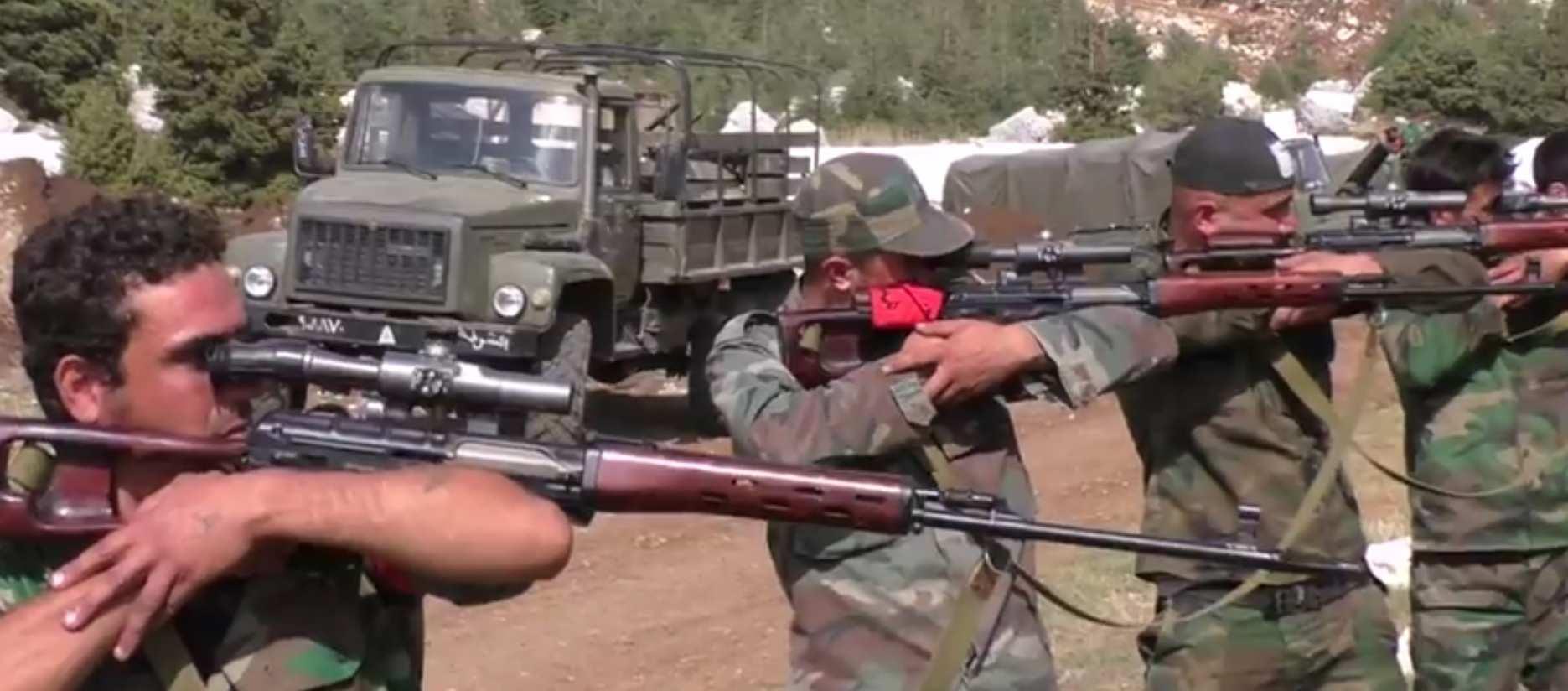 Российские инструкторы обучают сирийских снайперов (ВИДЕО) | Русская весна