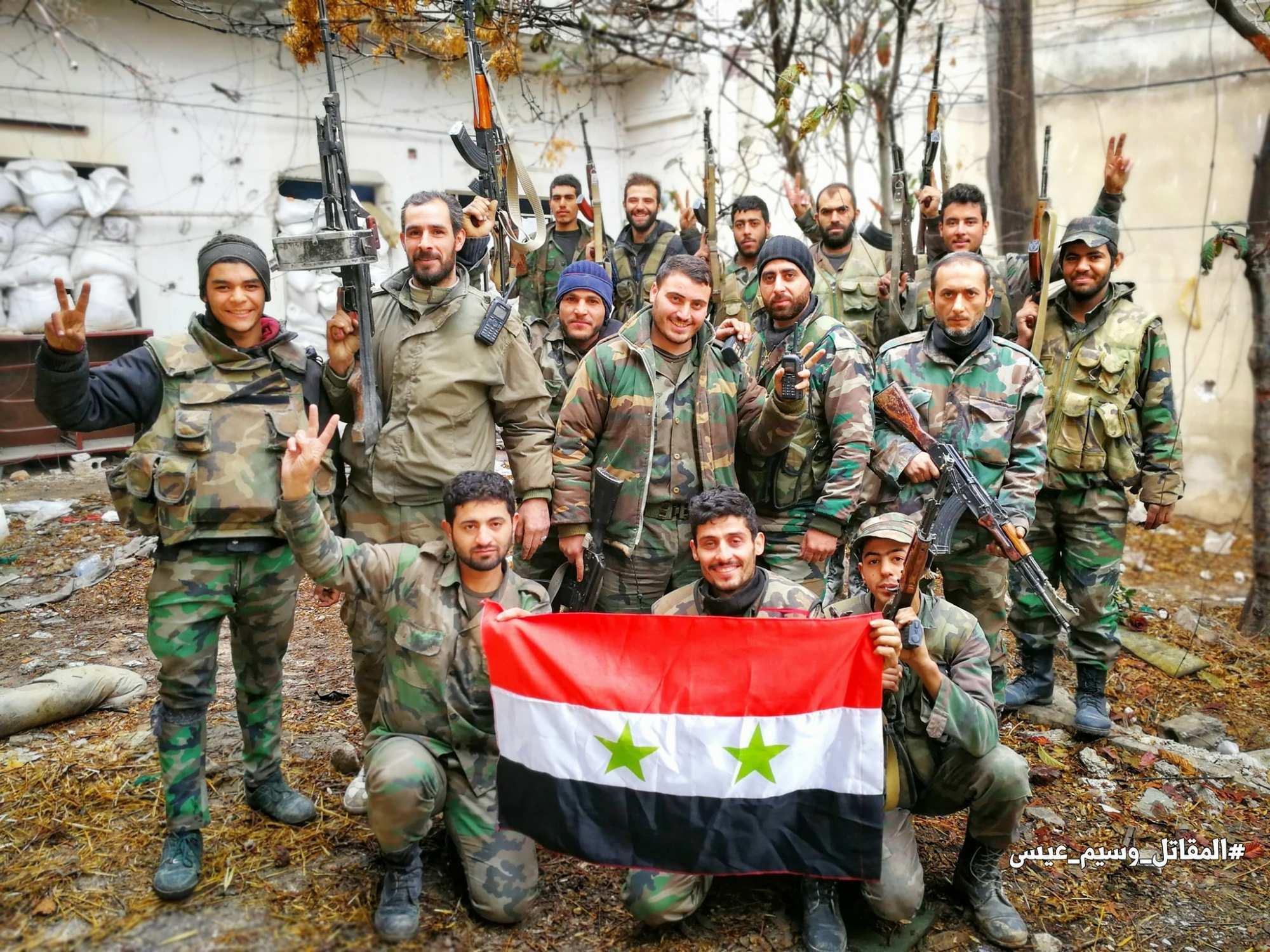 «Тигры» и другие сирийские штурмовые отряды прибывают под Дамаск для мощного наступления | Русская весна