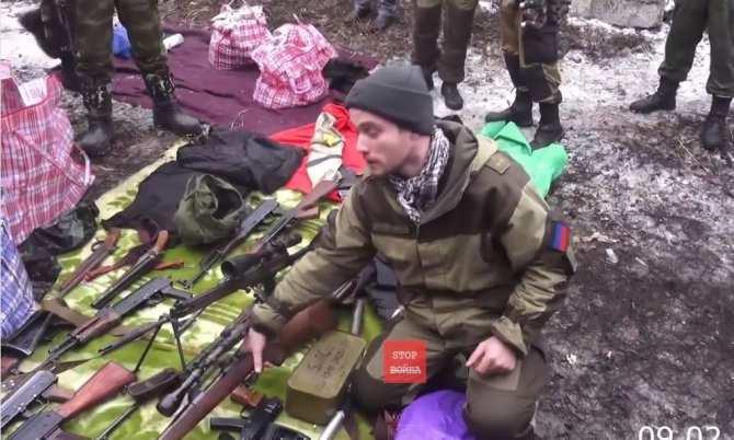 Военная полиция ДНР изъяла оружие Чехии, Германии, Америки (ВИДЕО)   Русская весна