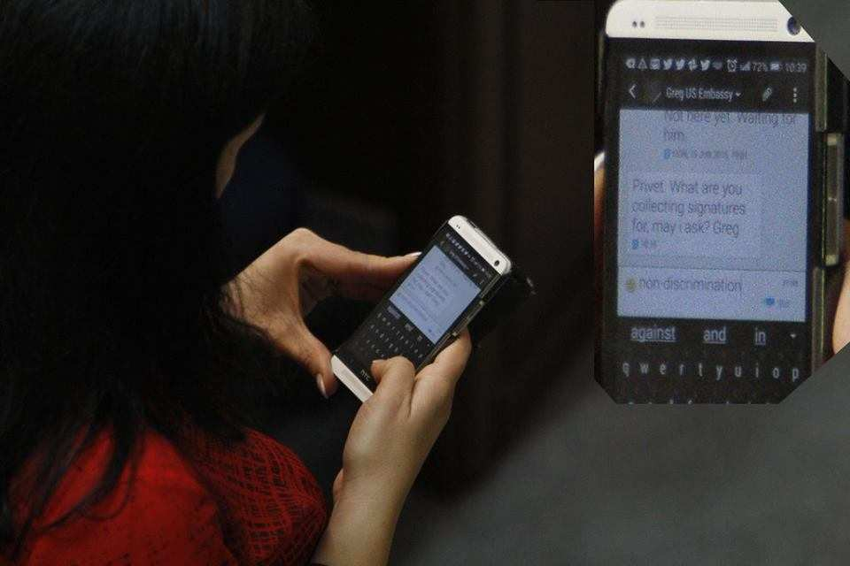Украинские депутаты получают указания из посольства США в СМС (ФОТО) | Русская весна