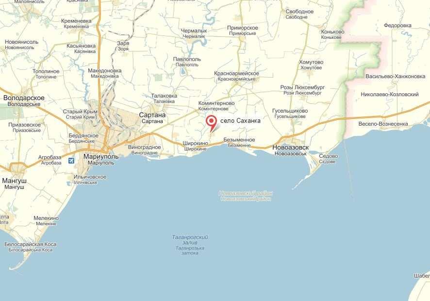 Ситуация под Мариуполем — ВСУ интенсивно обстреливают село Саханка Новоазовского района  | Русская весна