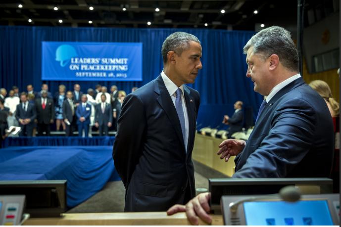 Грустная встреча Обамы и Порошенко (ФОТОФАКТ) | Русская весна