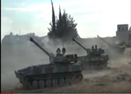Огненная стена: начало вчерашнего наступления сирийской армии на севере провинции Хама — эксклюзивное видео от ополченца «Тимура» | Русская весна