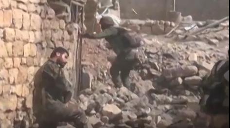 Уличные бои сирийской армии за Кафер-Нбуду (ВИДЕО) | Русская весна