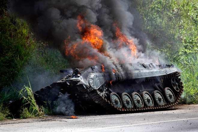 ВОБСЕ сообщили отанковых боях вШирокино и 50 раненных украинских военных в Красноармейске  | Русская весна