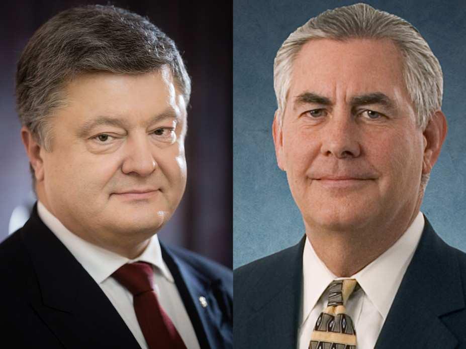 Тиллерсон обсудит с Порошенко конфликт в Донбассе и встречу Путина и Трампа | Русская весна