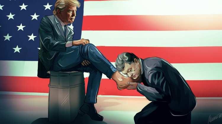 «А могведь ввышиванке поехать»: Украинцы высмеяли фото Порошенко сТрампом (ФОТО) | Русская весна