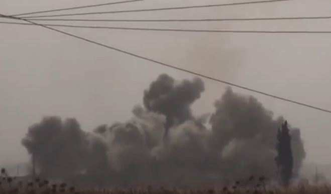 Боевики ИГИЛ сняли авиаудар посвоим позициям (ВИДЕО)   Русская весна
