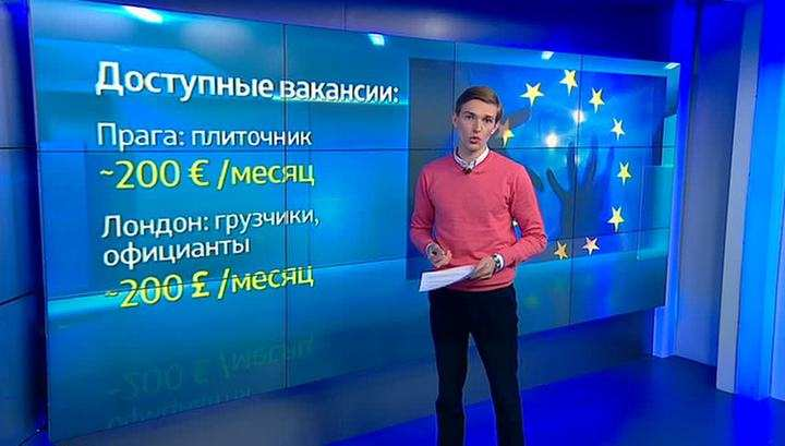 Украинцы бегут в Европу на любых условиях (ВИДЕО) | Русская весна