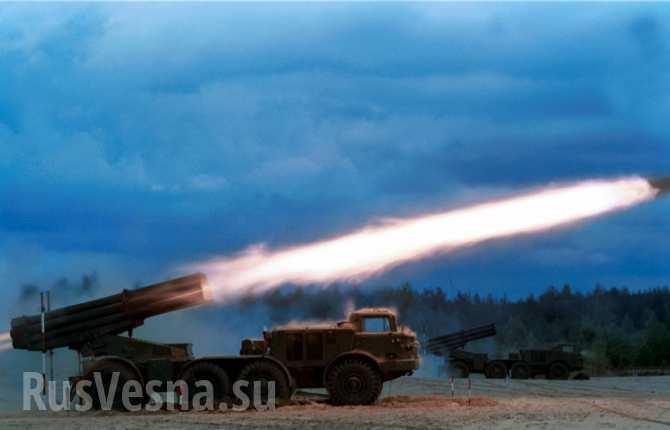 Украинские «Ураганы» и «Грады» ведут обстрел Луганска, в центре гремят взрывы | Русская весна
