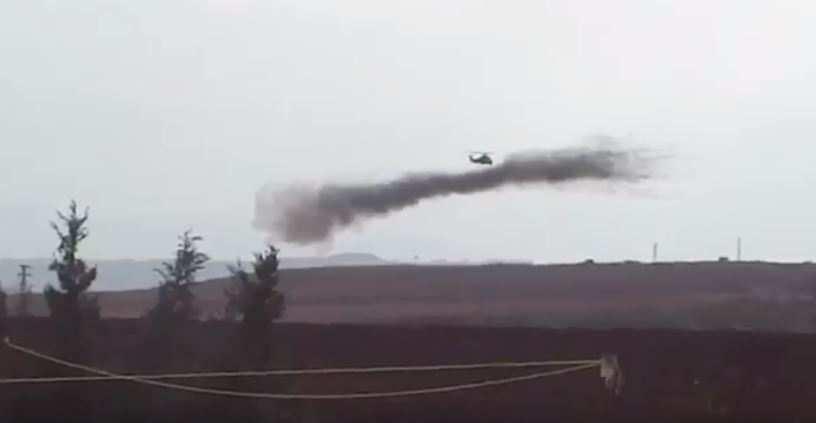 Российские боевые вертолеты наносят ракетные удары попозициям ИГИЛ вСирии (ВИДЕО) | Русская весна