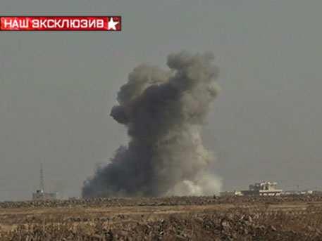 Удар российской авиации по боевикам ИГИЛ в Сирии — вид сземли (ВИДЕО) | Русская весна