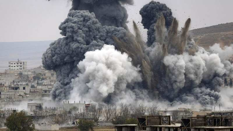Авиаудар похоронил под землей сирийскую банду — эксклюзив «Русской Весны» (ВИДЕО) | Русская весна