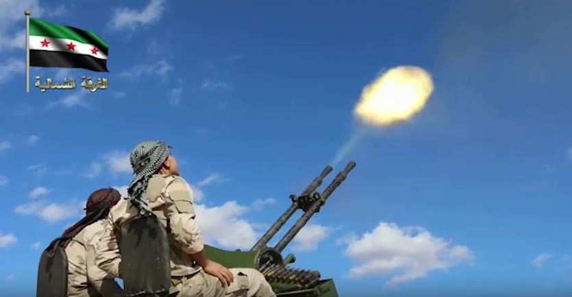 Сирийские боевики пытаются сбить российский военный самолет из зенитного орудия (ВИДЕО) | Русская весна