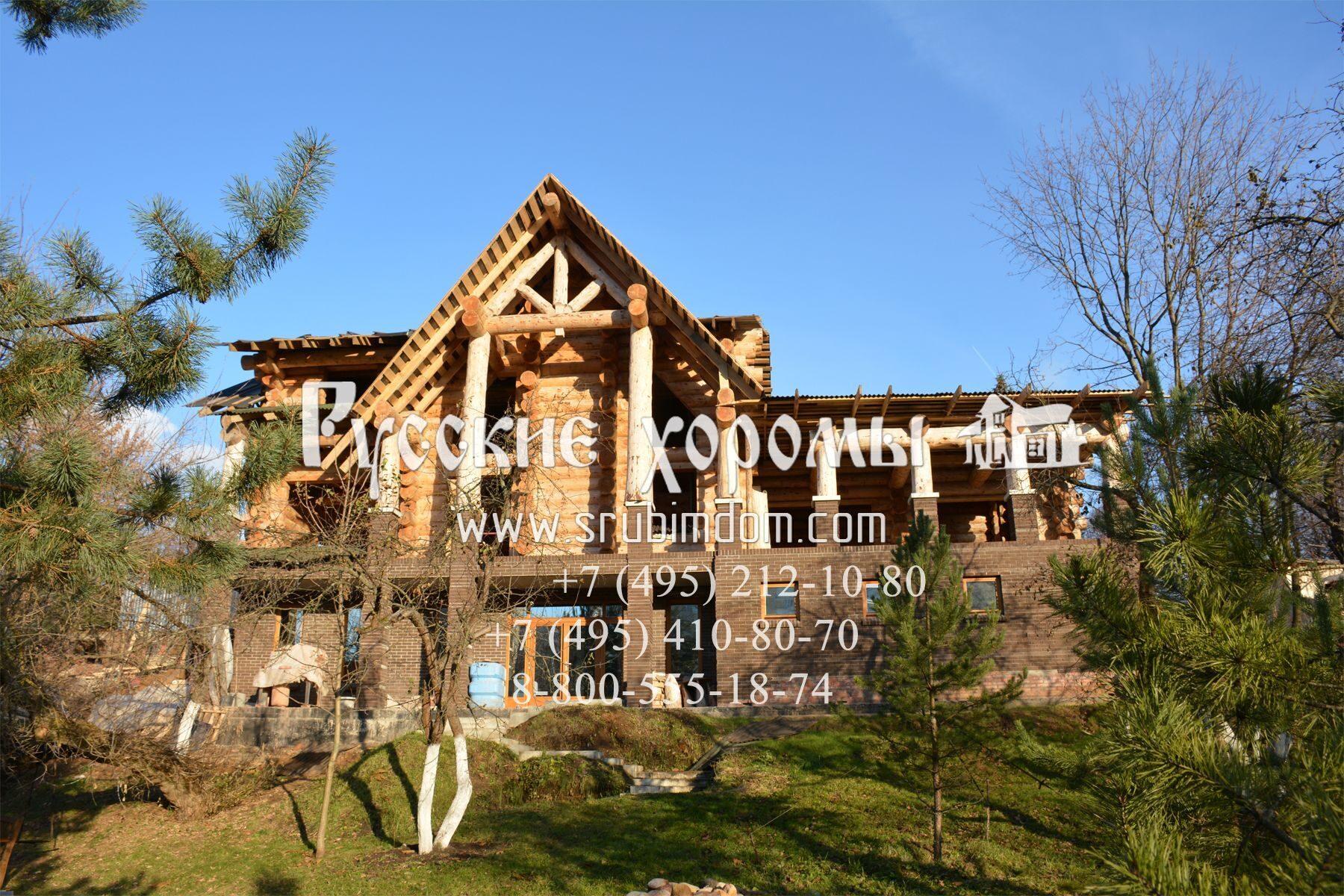 Деревянный дом из бревна Ренессанс