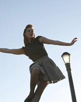 Женский шаг свинг танца