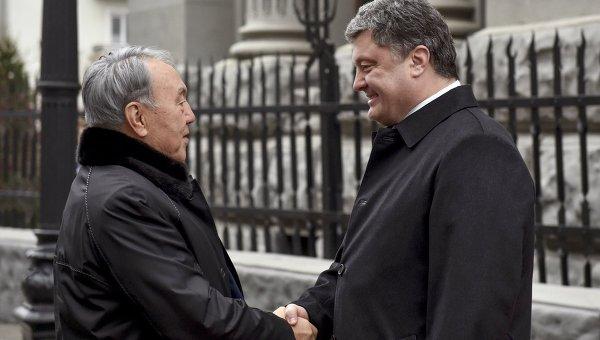 Порошенко, Назарбаев