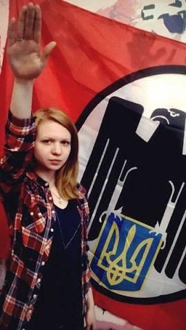 Вита Заверухина и Фашистское знамя