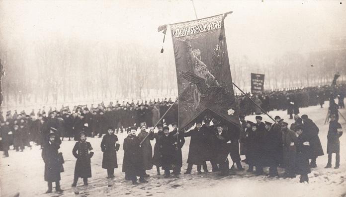 Знамя в честь жертв революции. Петроград, 23 марта 1917 года.