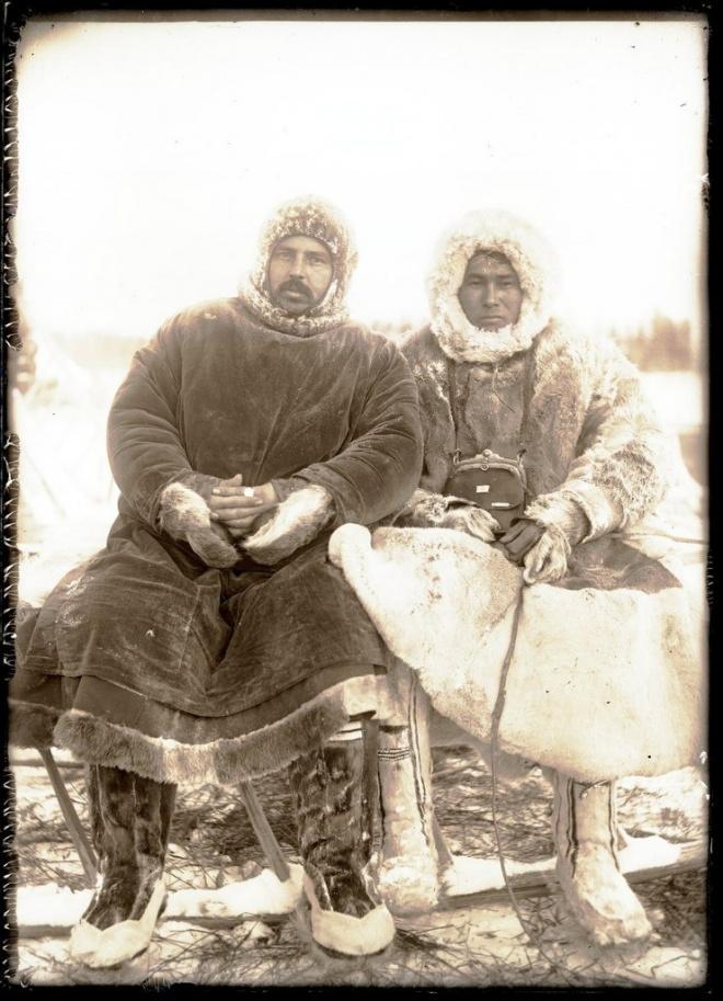 Местный русский житель и остяк с верховьев