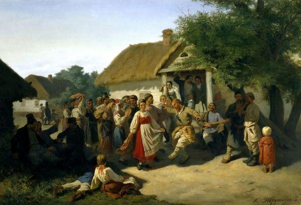 Социальные танцы в Курской губернии