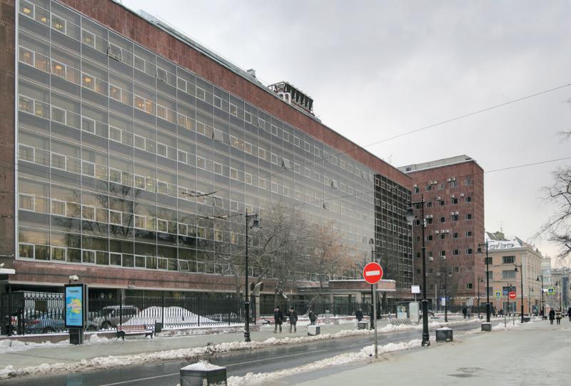 Здание Центросоюза со стороны Мясницкой улицы