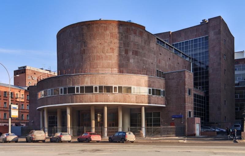 Здание Центросоюза со стороны улицы Сахарова