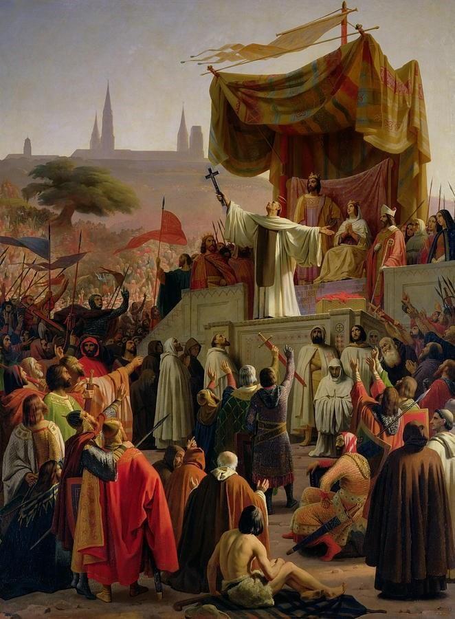 Эмиль Сигнол Св. Бернард призывает в Везле христианский мир к крестовому походу в 1146 году
