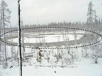 Одно из предполагаемых мест, где скрыт котел - как раз на реке Аглый тимирнить