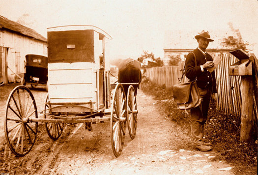 Вот так раньше доставлялась почта в США