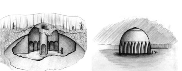 Эти рисунки сделал художник Юрий Михайловский по рассказам старого кочевника